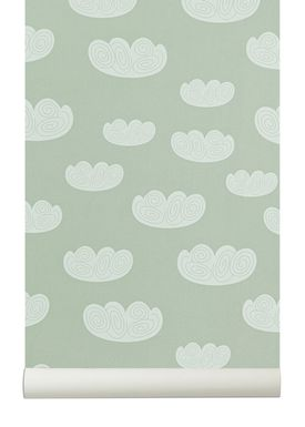 Ferm Living - Wallpaper - Cloud Wallpaper - Mint/White