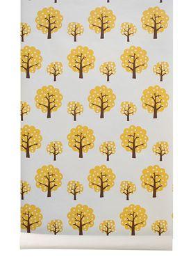 Ferm Living - Tapet - Dotty Wallpaper - Creme/Gul