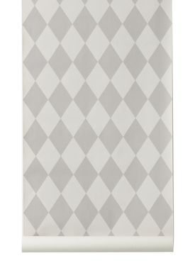 Ferm Living - Tapet - Harlequin Wallpaper - Grå