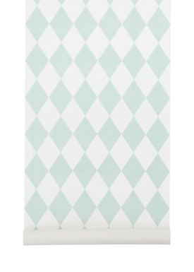 Ferm Living - Tapet - Harlequin Wallpaper - Mint