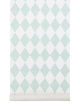 Ferm Living - Tapet - Harlequin Wallpaper - Mint