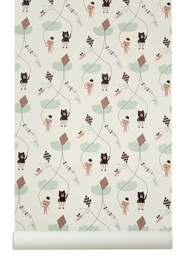 Ferm Living - Tapet - Kite Wallpaper - Creme
