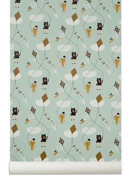Ferm Living - Tapet - Kite Wallpaper - Mint