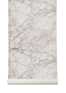 Ferm Living - Tapet - Marble Wallpaper - Grå