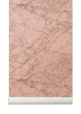 Ferm Living - Tapet - Marble Wallpaper - Rosa