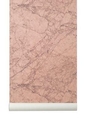Ferm Living - Tapet - Marble Wallpaper - Rosa