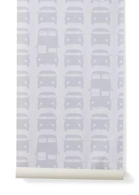 Ferm Living - Tapet - Rush Hour Wallpaper - Grå