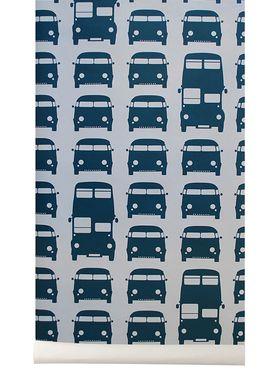 Ferm Living - Tapet - Rush Hour Wallpaper - Blå