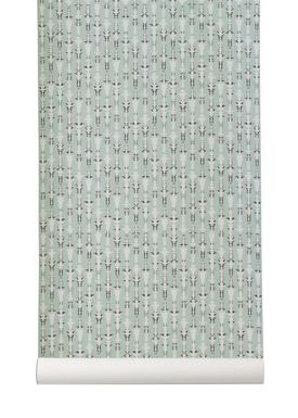 Ferm Living - Tapet - Vivid Wallpaper - Mint