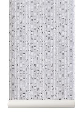 Ferm Living - Wallpaper - Vivid Wallpaper - Grey