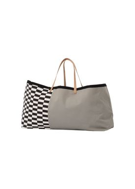 Ferm Living - Bag - Herman Big Bag - Grey Pattern