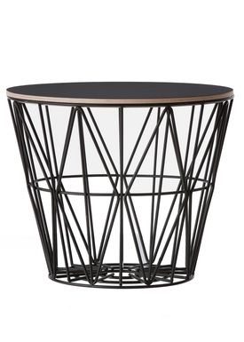 Ferm Living - Top - Wire Basket Top - Sort laminat - Medium