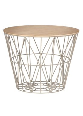 Ferm Living - Top - Wire Basket Top - Oiled Oak veneer - Medium