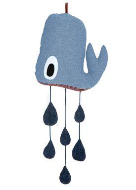 Ferm Living - Uro - Whale Mobile - Blå