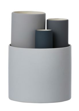 Ferm Living - Vase - Collect Vases - Grå