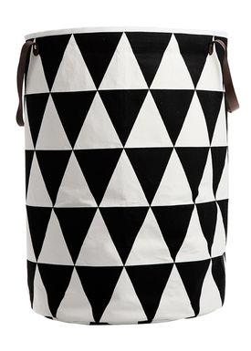 Ferm Living - Vaskekurv - Laundry Basket - Large - Triangle Print