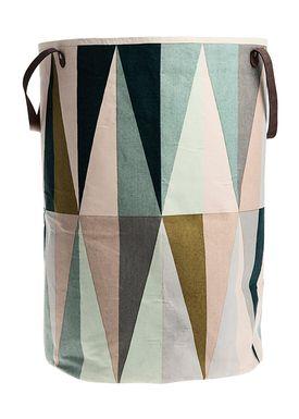 Ferm Living - Vaskekurv - Laundry Basket - Large - Spear Print