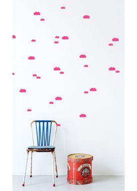 Ferm Living - Wallstickers - Mini Clouds Wallsticker - Neon pink