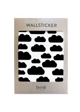 Ferm Living - Wallstickers - Mini Clouds Wallsticker - Sort