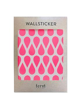 Ferm Living - Wallstickers - Mini Drops Wallsticker - Neon pink
