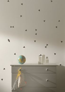 Ferm Living - Wallstickers - Mini Triangles Wallsticker - Sort