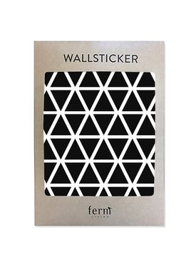 Ferm Living - Wallstickers - Mini Triangles Wallsticker - Sort