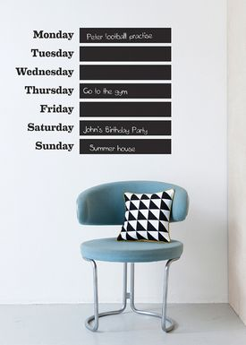 Ferm Living - Wallstickers - This Week Wallsticker - Sort