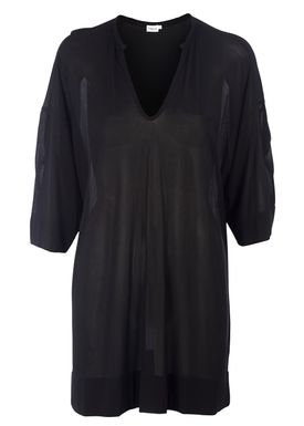 Filippa K - Tunika - Thin Rib Tunic - Sort