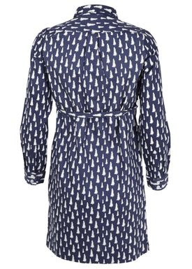 - Kjole - Fir Printed Dress - Navy