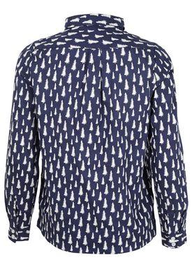 - Skjorte - Fir Printed Shirt - Navy