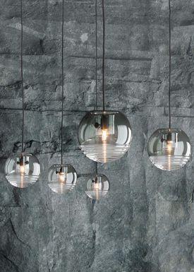 Tom Dixon - Lamp - Flask Smoke Pendant - Smoked Glass