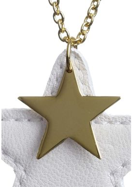 Leather Star Halskæde Off-white (guld)