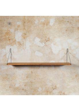 FRAMA - Hylde - Oak Shelf - 60 cm - Eg/Steel