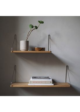FRAMA - Shelf - Oak Shelf - 80 cm - Oak/Steel