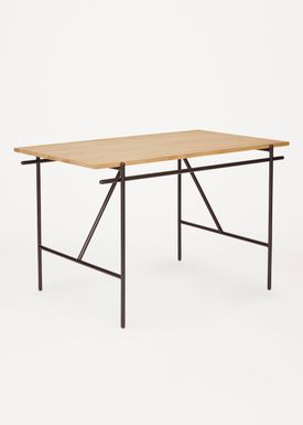 FRAMA - Desk - Writing Desk / WD-1 - Black Steel / Oak