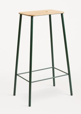 FRAMA - Chair - Adam Stool - Oak / Green / H75