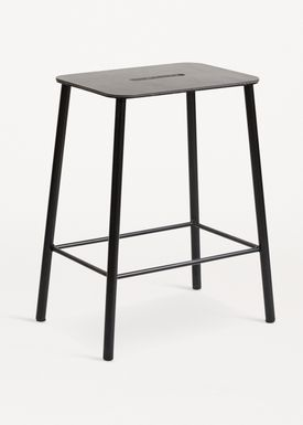 FRAMA - Stol - Adam Stool - Black Leather / Black / H50