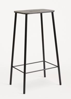 FRAMA - Chair - Adam Stool - Black Leather / Black / H75