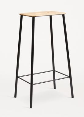 FRAMA - Chair - Adam Stool - Oak / Matt black / H75