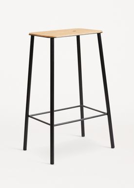 FRAMA - Chair - Adam Stool - Oak / Matt black / H65
