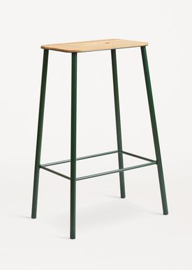 FRAMA - Stol - Adam Stool - Oak / Green / H65