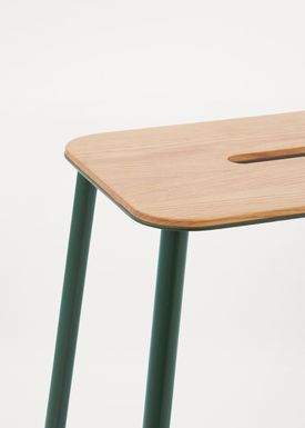 FRAMA - Chair - Adam Stool - Oak / Green / H50