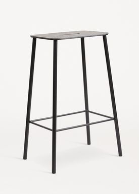 FRAMA - Stol - Adam Stool - Black Leather / Black / H65