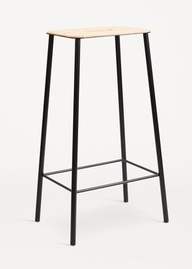 FRAMA - Stol - Adam Stool - Natural Leather / Matt black / H75