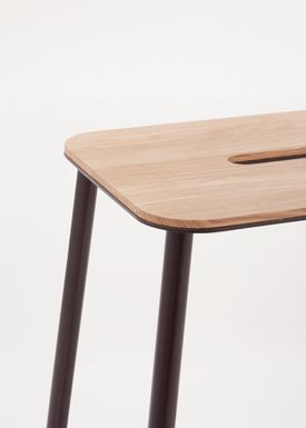 FRAMA - Stol - Adam Stool - Oak / Matt black / H75