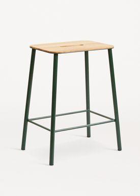 FRAMA - Stol - Adam Stool - Oak / Green / H50