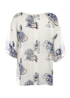 FWSS - Bluse - Metal Mickey - White Bloom