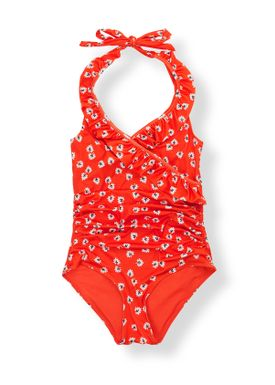 Ganni - Swimsuit - Columbine Swimsuit - Big Apple Red