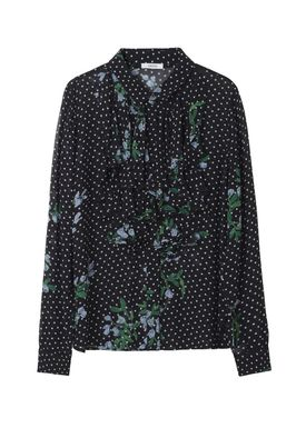 Ganni - Blouse - Rometty Georgette Shirt - Black