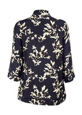 Ganni - Bluse - St. Pierre Crepe Blouse - Total Eclipse